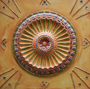 Mandala espelho - Sou harmonia e vivo em paz.
