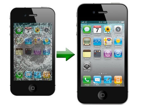 Apple iPhone 4G/4s Broken Glass LCD or Digitizer Screen Repair Service