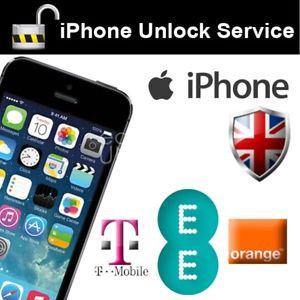 iPhone Unlock (EE, T-Mobile, Orange) - 4G, 4s, 5c, 5S, 5SE, 6, 6Plus, 7G, 7 Plus