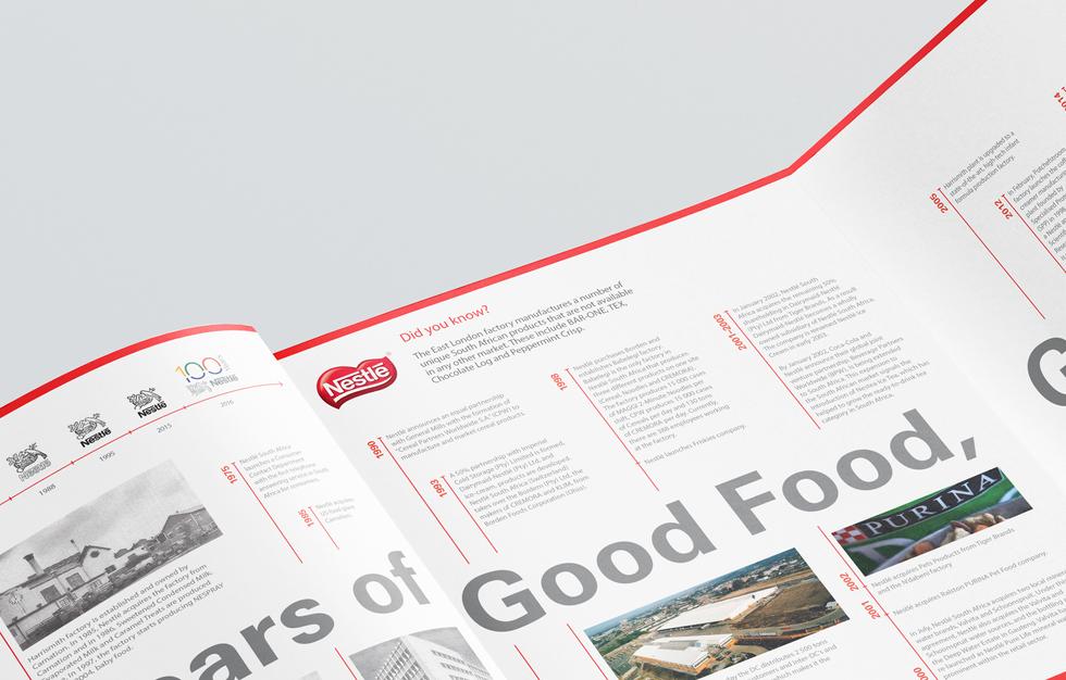 Corporate profile brochure timeline fold