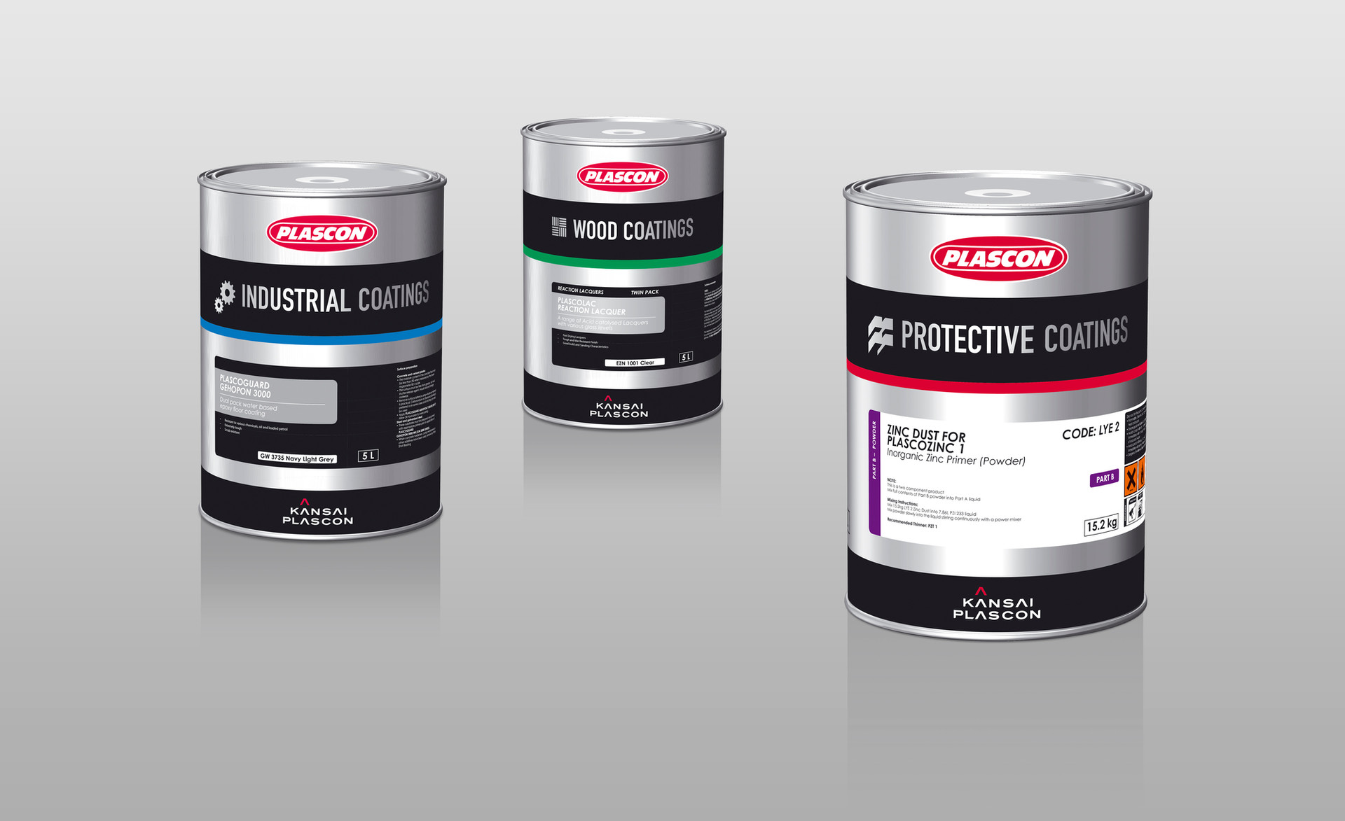 Coatings Range paint packaging