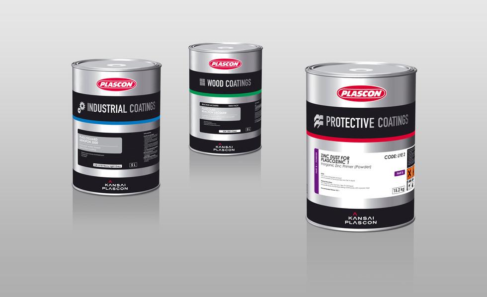 Coatings Range paint packaging