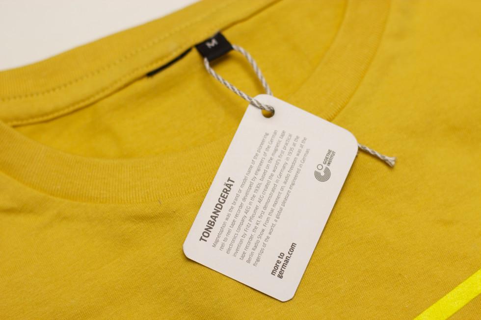 German education tshirt yellow