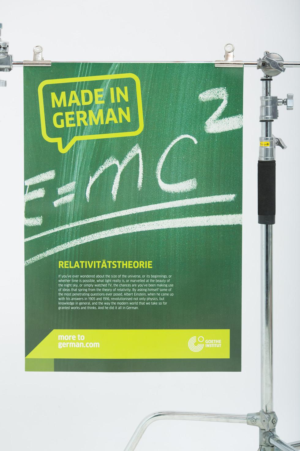 German education poster green