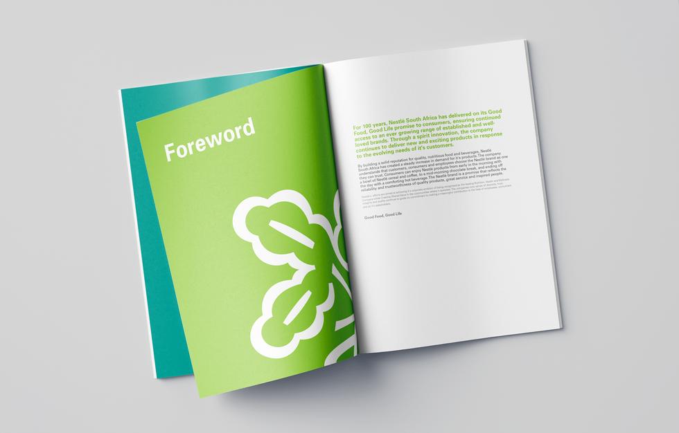 Corporate profile brochure spread