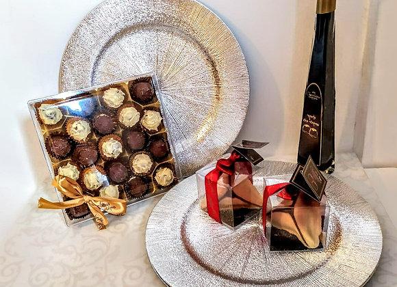 Elegent Service plates and Chocolatina Chocolates