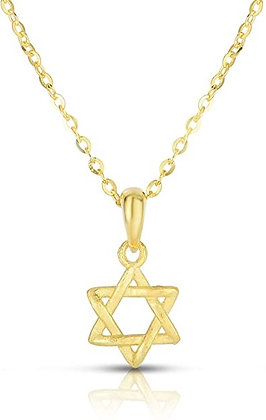 14K Yellow Gold Plated Star of David Necklace