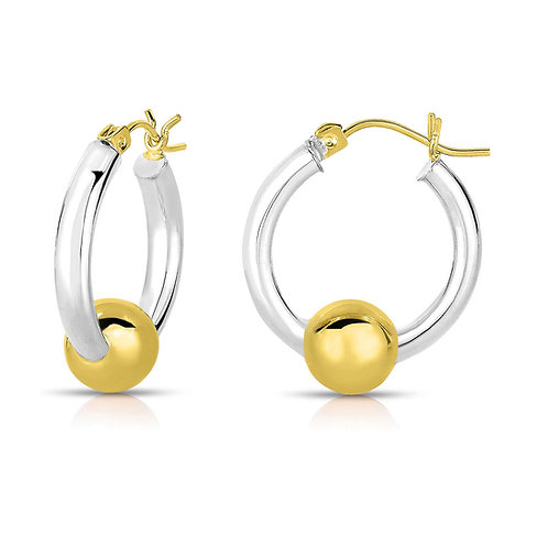 Cape Cod Jewelry Earrings 925 Sterling Silver with 14k Gold