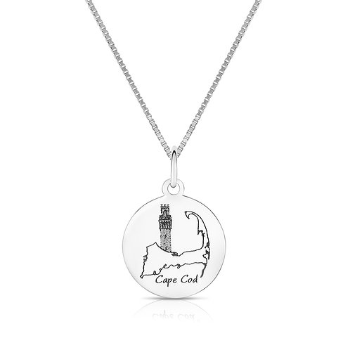 925 Sterling Silver Cape Cod Lighthouse Necklace