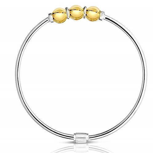 Premium Cape Cod 14K Gold & 925 Sterling Silver 3 Ball Bracelet