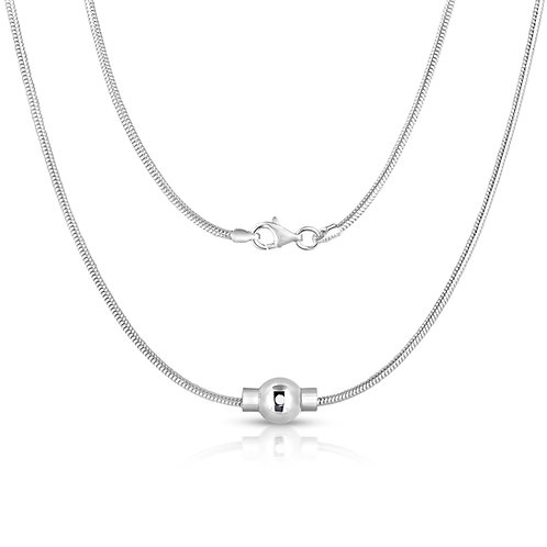 Cape Cod Jewelry 925 Sterling Silver Real Snake Chain Necklace