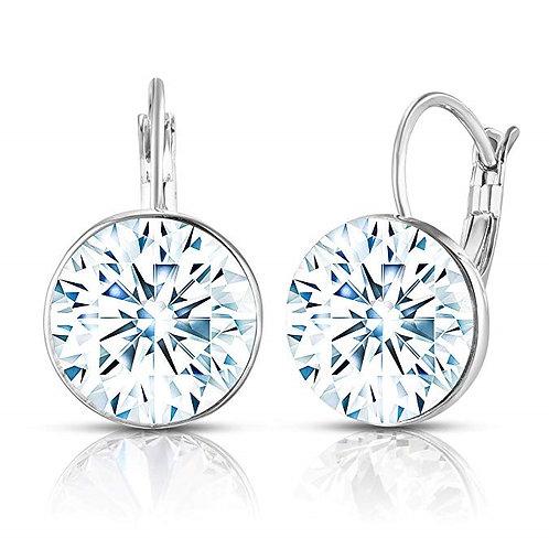 Swarovski Crystal Bella French Wire Clip Pierced Post Drop Designer Earrings