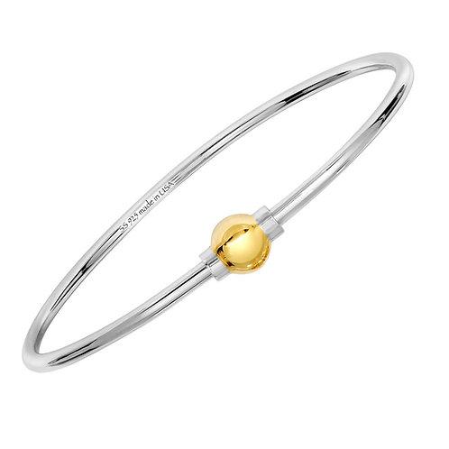 Cape Cod Jewelry Bracelet 925 Sterling Silver & 14K Gold.