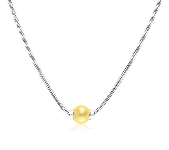 Cape Cod Jewelry Necklace 925 Sterling Silver with 14k Gold