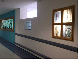 Hospital stained glass