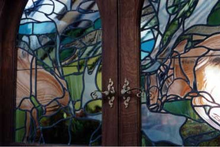 contemporary leading stained glass peice