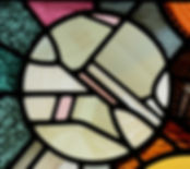 Detail of the pattern from one of the religious stained glass window designs