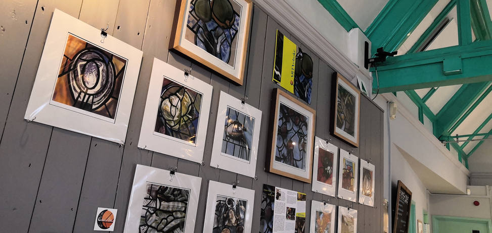 Exhibition in the Greenhouse Cafe in Shrewsbury.