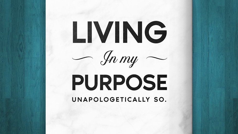 Living In Purpose Unapologetically So Journal