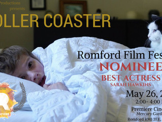 Sarah Hawkins Nominated for Best Actress at Romford Film Festival in U.K.