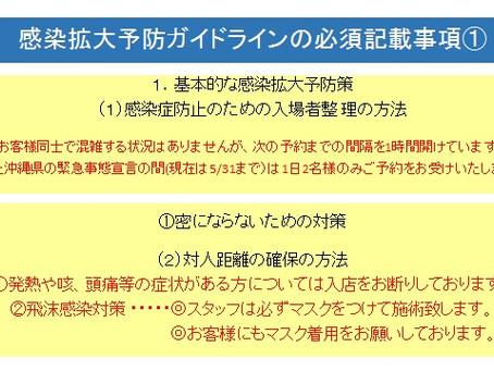 (1)5月のスケジュール(2)感染拡大予防ガイドライン