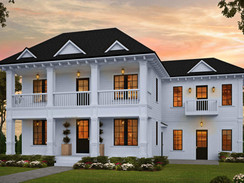Large Home Rendering with Unique use of Columns