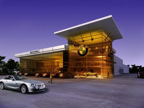 Car Dealership Commercial Rendering