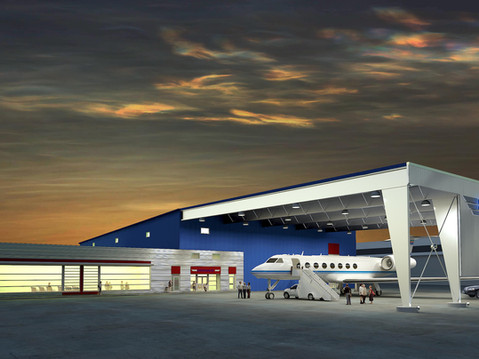 Evening Commercial Airport Rendering