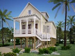 3D Rendering of an Elevated House
