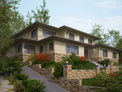 Rendering of a Home on a Hill