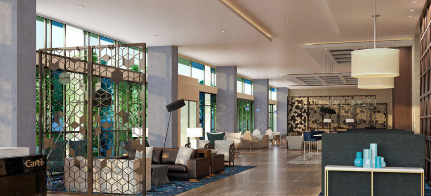 Rendering of a Hilton Hotel Waiting Room