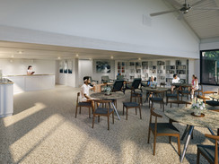 Cafe Seating Area Rendering