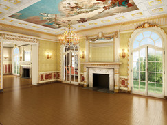Architectural Rnedering of a Large Empty Room