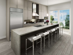 Architectural Rendering of a Modern Kitchen