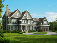 3D Rendering of the Exterior of a Home