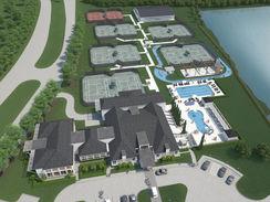 Sports Club Aerial View 2