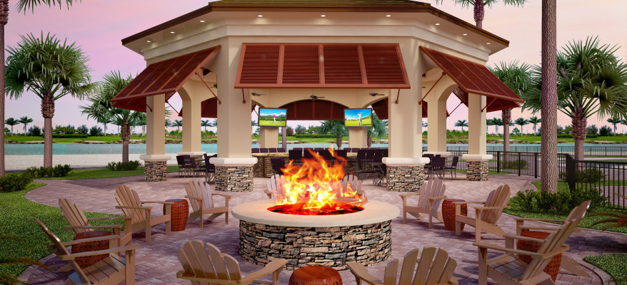 Architectural Rendering of a Tiki Bar