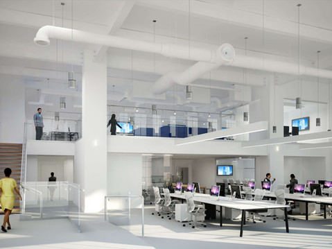 Interior Rendering of an Apple Office