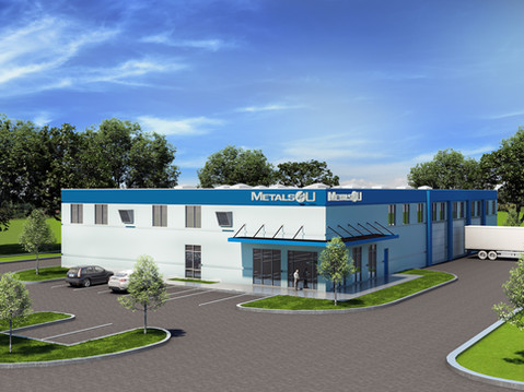 Metals4U Commercial Exterior Rendering