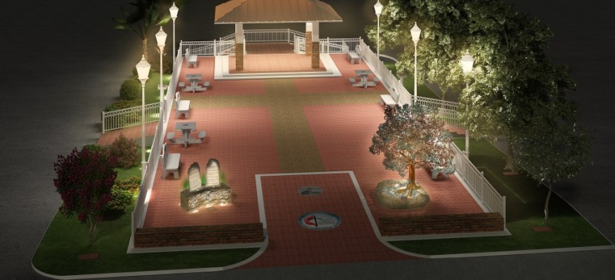 3D Rendering of an Outdoor Common Area