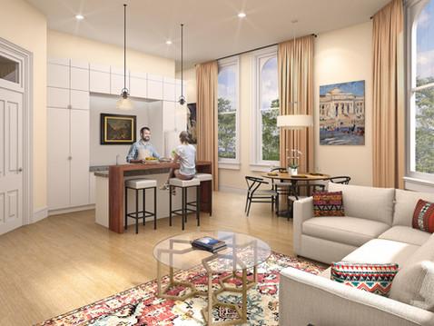 Interior Living Area Rendering