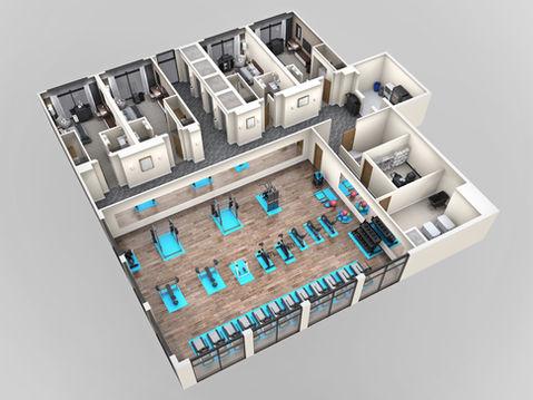 Hotel 3D Floor Plan