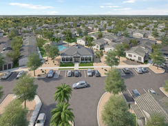 Aerial Rendering of a Housing Complex