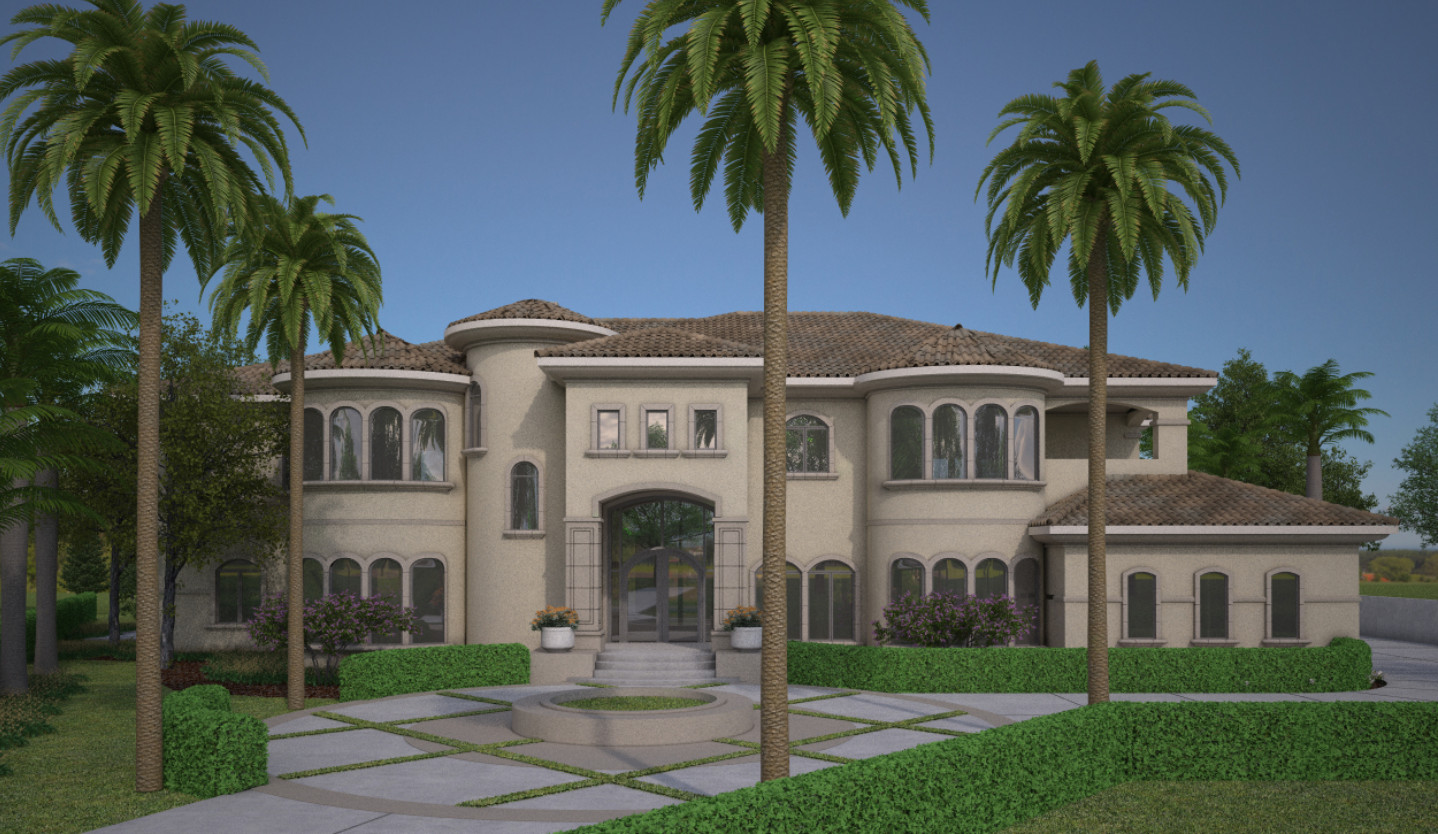 Virtual 360 of a Mansion Exterior