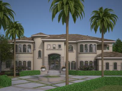 Virtual 360 of a Mansion Exterior