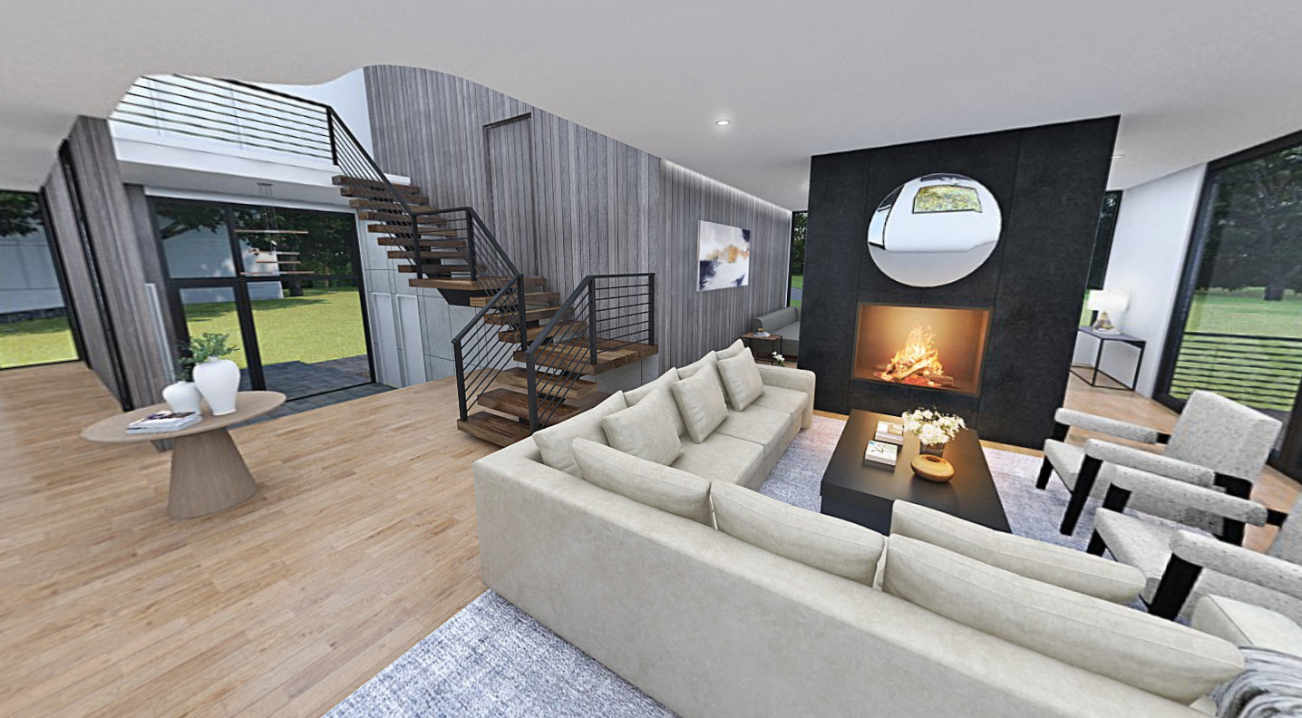 Virtual 360 of a Living Room Interior