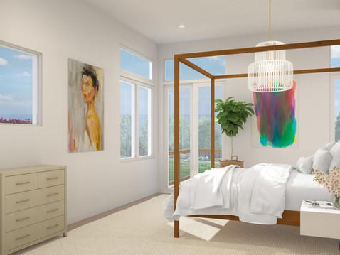 Master Bedroom 3D Rendering
