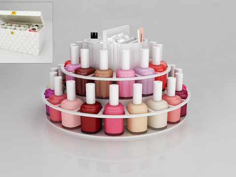 3D Rendering of a Nail Polish Stand