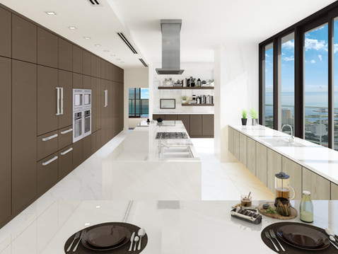 High Rise Condo Kitchen Rendering