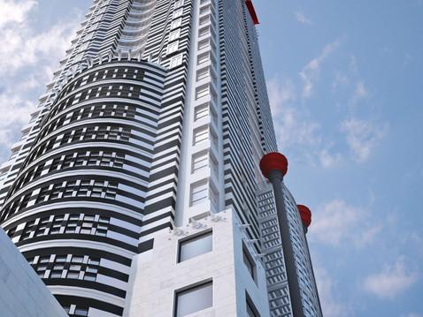 Architectural Skyscraper 3D Rendering